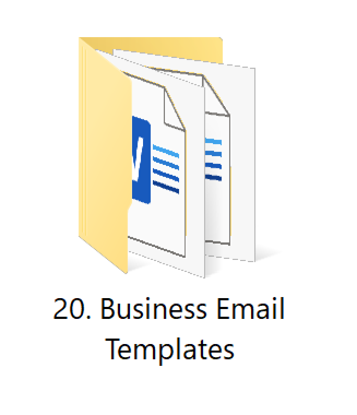 20. Business Emails   HR Toolkit Box   No.1 Startup HR Toolkit   Best HR Toolkit in India!!!